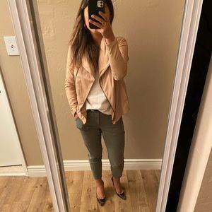Vince pink blush soft leather jacket